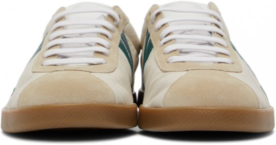 Beige & Blue Canvas Glen Sneakers Lanvin. Цвет: c280 cream/