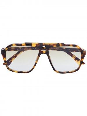 Солнцезащитные очки Anthony Kirk Originals. Цвет: коричневый