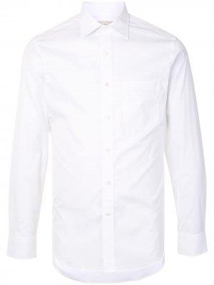 Рубашка узкого кроя с длинными рукавами Kent & Curwen. Цвет: белый