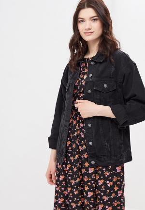 Куртка джинсовая Softy. Цвет: черный