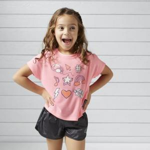 Флуоресцентная футболка для девочек Reebok. Цвет: peppy pink