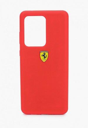 Чехол для телефона Ferrari Galaxy S20 Ultra, On-Track Silicone case Red. Цвет: красный