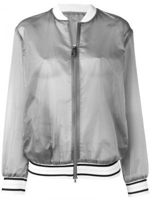 Полупрозрачная куртка-бомбер Fabiana Filippi. Цвет: серый