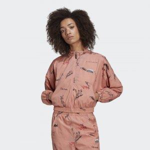 Олимпийка R.Y.V. Originals adidas. Цвет: розовый