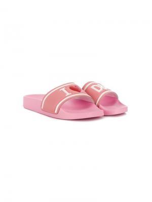 Шлепанцы I love D&G Dolce & Gabbana Kids. Цвет: розовый