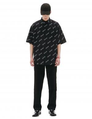 Рубашка с коротким рукавом и монопритом Balenciaga