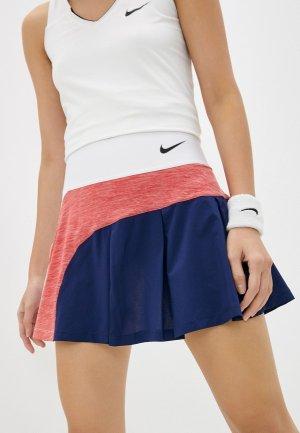 Юбка-шорты Nike W NKCT DF ADVTG SKIRT HYBRID. Цвет: разноцветный
