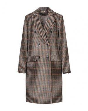 Пальто TRUE TRADITION. Цвет: хаки