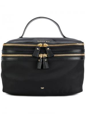 Косметичка vanity kit Anya Hindmarch. Цвет: черный