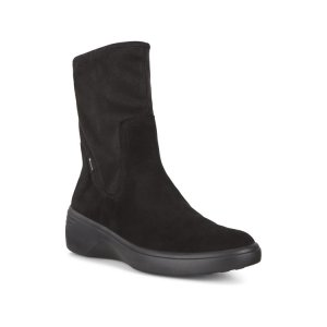 Ботинки высокие SOFT 7 WEDGE W ECCO. Цвет: черный