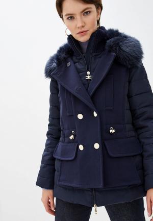 Куртка утепленная Elisabetta Franchi. Цвет: синий