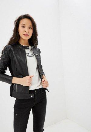 Куртка кожаная Arma. Цвет: черный