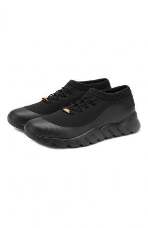 Текстильные кроссовки Fendi. Цвет: черный
