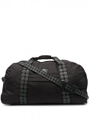 Дорожная сумка с логотипом на ремнях 10 CORSO COMO. Цвет: черный