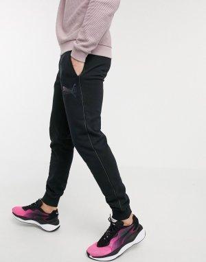 Черные спортивные штаны -Черный Puma