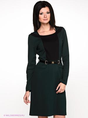 Платье Alkis. Цвет: темно-зеленый