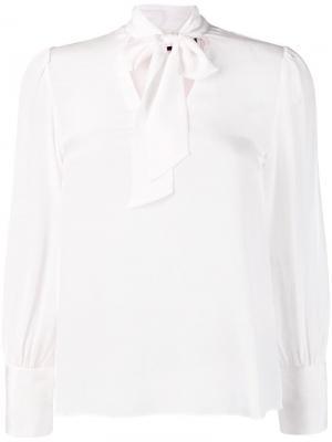 Блузка с бантом Alice+Olivia. Цвет: белый