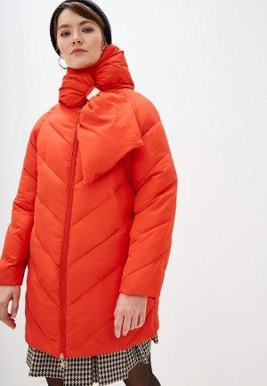Куртка утепленная Elisabetta Franchi. Цвет: оранжевый
