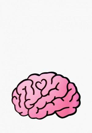 Брошь Monolama Мозг. Цвет: розовый