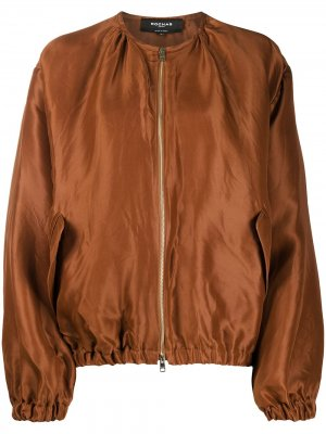 Легкая куртка-бомбер Rochas. Цвет: коричневый