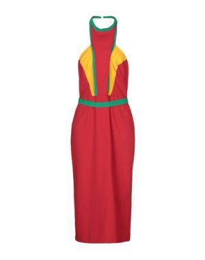 Длинное платье VALENTIN YUDASHKIN. Цвет: красный