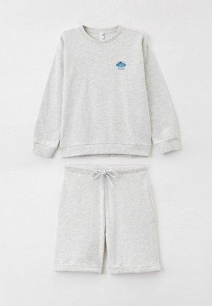 Пижама Sela Exclusive online. Цвет: серый