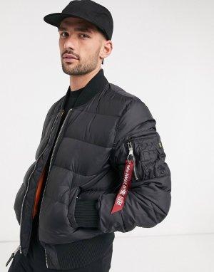 Черная нейлоновая куртка -Черный Alpha Industries