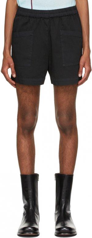 Black Twill Shorts Dries Van Noten. Цвет: 900 black