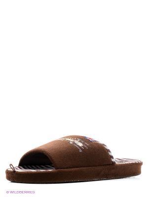 Тапочки Home story. Цвет: коричневый