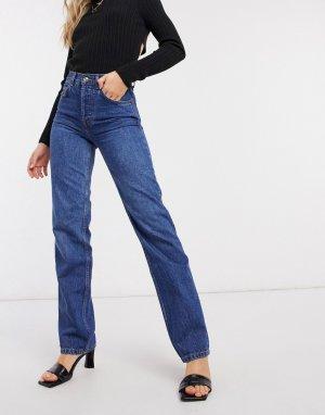 Расклешенные джинсы до щиколотки с завышенной талией -Синий ASOS DESIGN