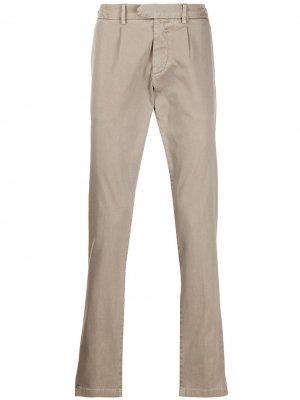 Классические брюки чинос кроя слим Eleventy. Цвет: нейтральные цвета
