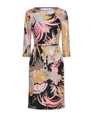 Платье до колена LEONARD Paris. Цвет: фуксия