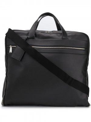 Дорожная сумка на молнии Bottega Veneta. Цвет: черный