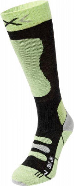 Гольфы детские SKI JR 4.0, 1 пара, размер 27-30 X-Socks. Цвет: зеленый