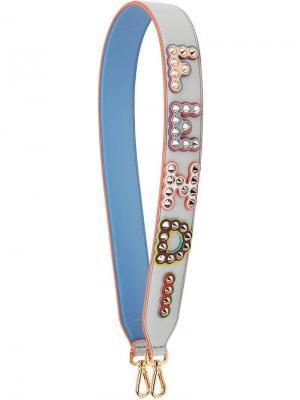 Лямка для сумки Strap You с логотипом Fendi. Цвет: синий