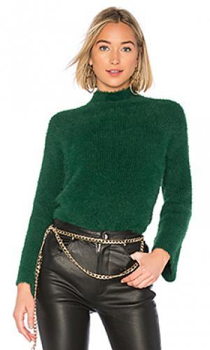 Пуловер faith Lovers + Friends. Цвет: зеленый