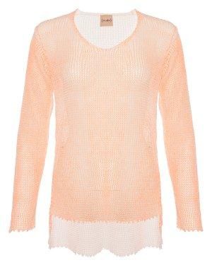 Пуловер 1101734 40 оранжевый+белый Nude. Цвет: оранжевый+белый