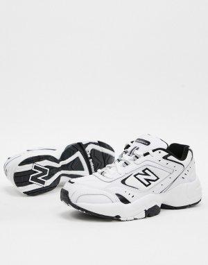 Бело-черные кроссовки 452-Белый New Balance