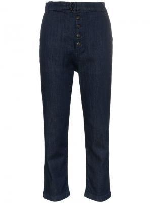 Укороченные брюки чинос с завышенной талией 3x1