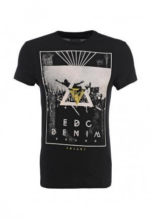 Футболка EDC by Esprit. Цвет: черный