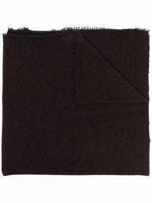 Кашемировый шарф с бахромой Faliero Sarti. Цвет: коричневый