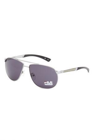 Очки солнцезащитные FILA. Цвет: серебряный