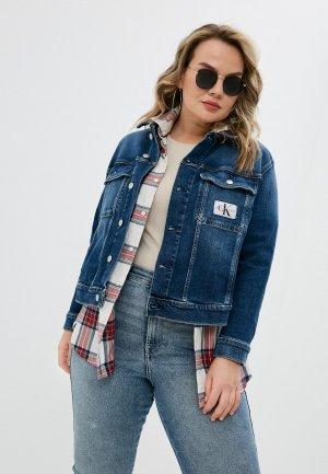 Куртка джинсовая Calvin Klein Jeans. Цвет: синий
