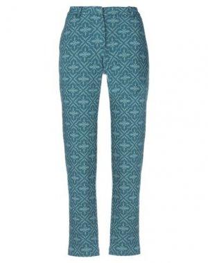 Повседневные брюки ANDREA TURCHI. Цвет: цвет морской волны