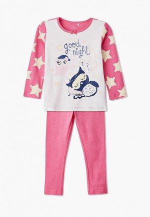 Пижама Chicco. Цвет: розовый