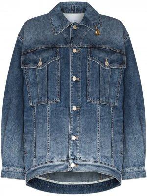Джинсовая куртка оверсайз с цепочкой Givenchy. Цвет: синий
