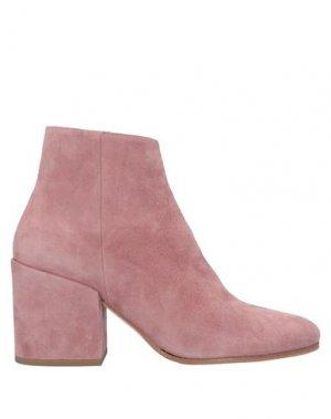 Полусапоги и высокие ботинки LORENZO MASIERO. Цвет: пастельно-розовый