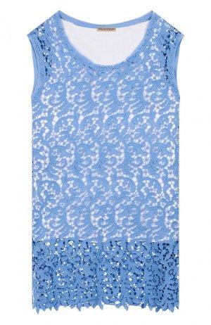 Комплект из хлопковой майки и топа Ermanno Scervino. Цвет: синий