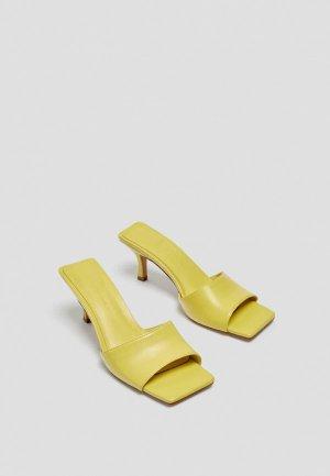Сабо Pull&Bear. Цвет: желтый
