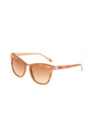 Очки солнцезащитные Enni Marco. Цвет: бежевый, золотой, коричневый